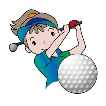 女子ゴルフ スイング
